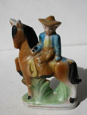 Vintage Ceramic-Porcelain Lady on a Horse Figurine-Made in Japan-Beautiful-LOOK