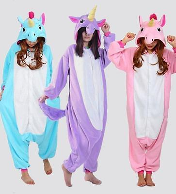 Unicorn Tenma Unisex Sleepwear Kigurumi Pajamas Animal Cosplay Costume.'