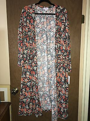 Lularoe L Floral Sarah Duster, Brand New With Tags, Large