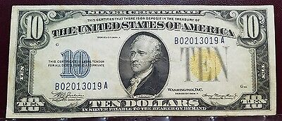 1934 $10 North Africa Silver Certificate