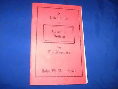 1999 A Price Guide To Roseville Pottery By The Numbers - L@@k