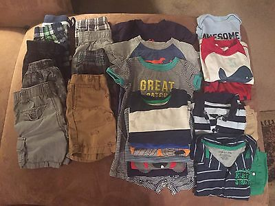 26 Piece LOT 18-24Month Boy SUMMER CLOTHES CK Baby Gap Gymboree Carters Old Navy