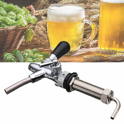 Stainless Steel Adjustable Draft Beer Faucet G5/8 Shank For Homebrew Making Taps
