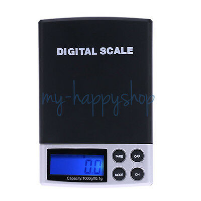 1000g 0.1g Digital Jewelry Electronic Pocket Scale With LCD Display Back Light
