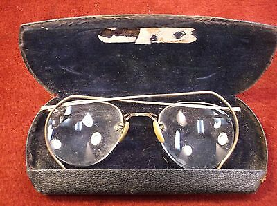 "#18, Nice Pair Of Old Vtg Gold Filled ""American Optical, A/O"" Eyeglasses & Case"