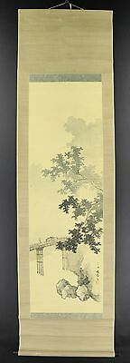 JAPANESE HANGING SCROLL ART Painting Scenery Asian antique  #E5028