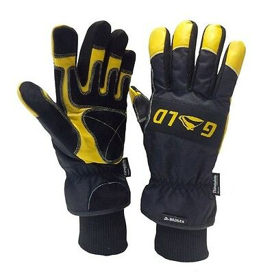 1pr x Badger PPH200 GOLD Leather Coldstore,freezer, work, garden,snow,ski, glove