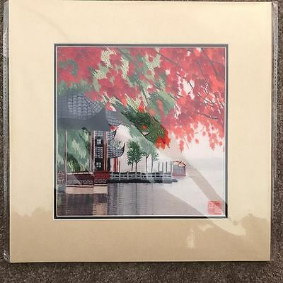Susho handmade silk embroidery of of japanese scenery
