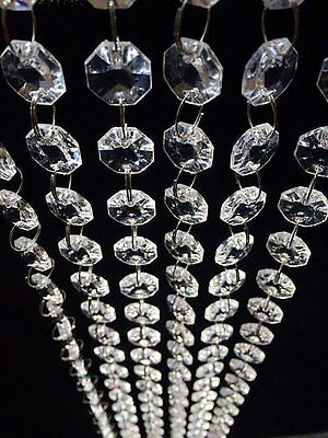 30FT Acrylic Crystal Bead Chandelier Wedding Centerpiece Garland Chain Prisms