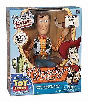 Toy Story Signature Collection DELUXE Talking Sheriff Woody & COA Rare Disney