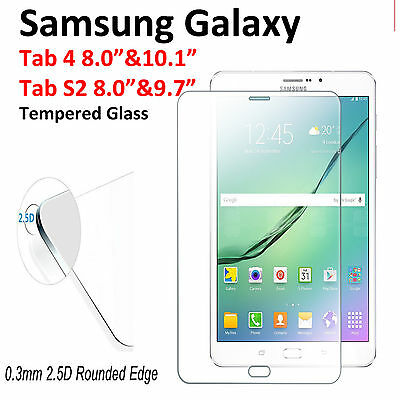 """Tempered Glass Screen Protector for Samsung Galaxy Tab 4 10.1"""" 8.0""""/S2 9.7"""" 8.0"""""""