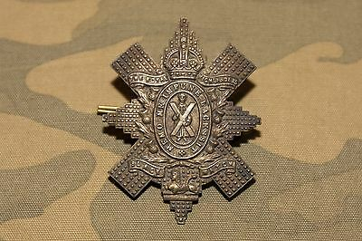 The British Army WWI: The Black Watch (Royal Highland Regiment) Cap Badge. KC