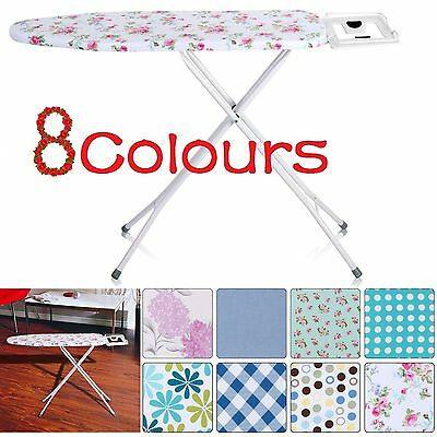 Large Ironing Board Metal Iron Rack 10 Steps Height Adjustable 8 Covers Choice