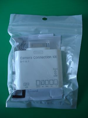 23 Camera Connection Kits 5+1 in 1 for Ipad Iphone4 USB memory card slots Joblot