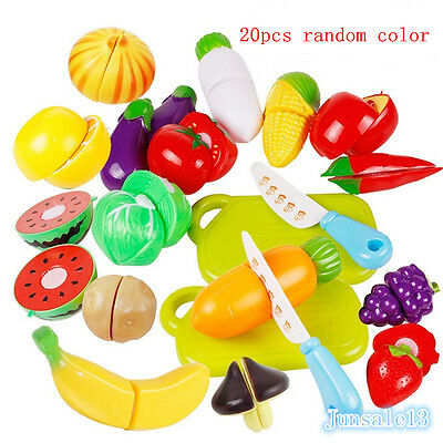 1/10/24 PCS Kids Pretend Role Play Kitchen Fruit Vegetable Food Toy Cutting Gift