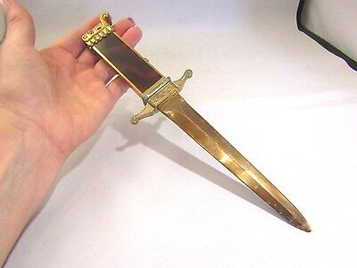Vtg  Asr Paper Weight Dagger Letter Opener Knife Lighter  Collectible