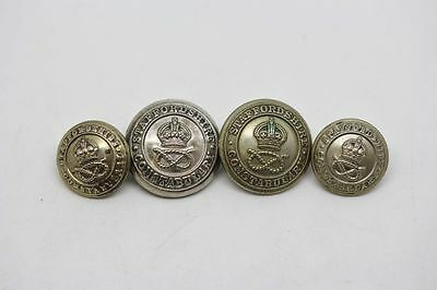 Lot of 4 Staffordshire Constabulary King's Crown Buttons - Obsolete