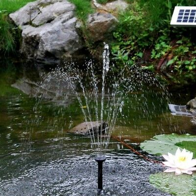 Solar Powered Panel Fountain Garden Pool Pond Submersible Water Pump Features AU