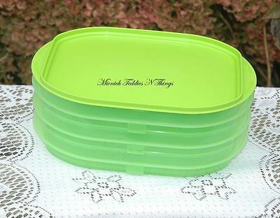 Tupperware  Fridge Stackable Stackables   Lime Green Set