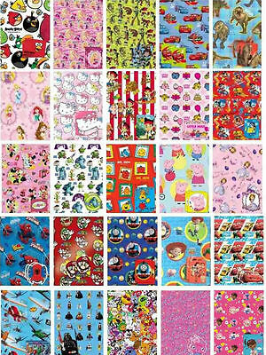 Wrapping Paper + Gift Tag Children's/ kids OFFICIAL Birthday Wrap various themes