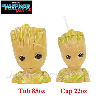 Guardians of the Galaxy Vol. 2 Movie Exclusive Baby Groot Cup, Popcorn Tub Promo