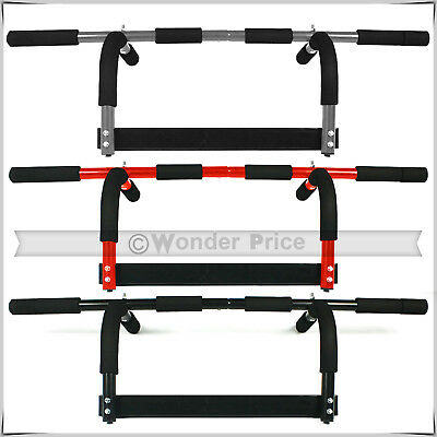 Door Gym Bar Exercise Workout Chin Up Pull Up Sit Up Iron Bar Home Fitness Bar