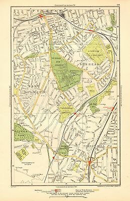 1936 Large Scale London Map-Nunhead, East Dulwich, Peckham Rye, Forest Hill