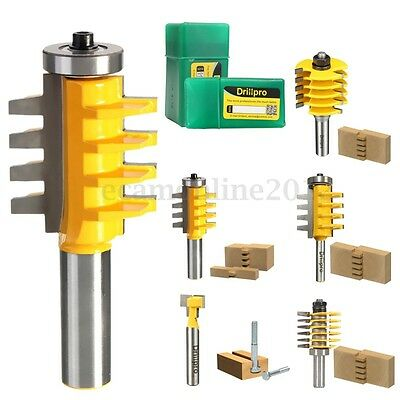 """1/2"""" 1/4"""" Shank Adjustable Finger & Box Joint T Slot Router Bit Woodworking Tool"""