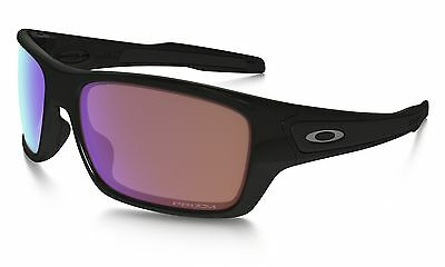 Oakley Turbine Golfing Sport Sunglasses in Polished Black / Prizm Golf Lens