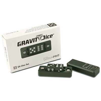 ULTRA PRO D6 - 2 Dice Set Gravity Dice - Black Forest NEW * Gaming Accessories