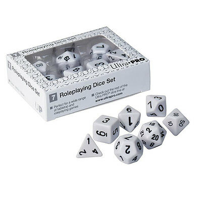 ULTRA PRO - Roleplaying Dice Set, White NEW * Gaming Accessories