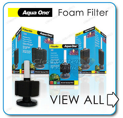 Aquarium BIO FOAM SPONGE FILTER Fish Tank Breeding Fry Baby Air Pump Filtration