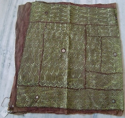 Old Decorative Wall Hanging Vintage Handmade Chikankari Embroidery Tapestry