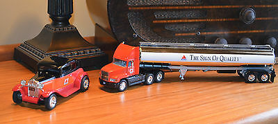 lot of 2 New! Citgo Diecast Tanker Truck & Model A Ford piggy bank metal car