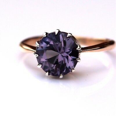 Antique Alexandrite 9ct Rose Gold Ring size L ~ 5 3/4