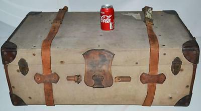 1930's Vintage ​CLEGHORN Travel Trunk for Coffee Table or Storage [PL3395]