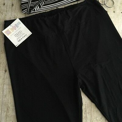 NWOT LulaRoe Leggings TC Tall and Curvy  -  Solid Black, Unicorn