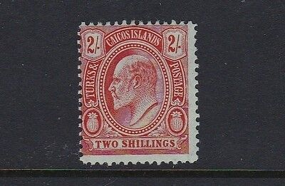 Turks & Caicos Is SG125 2s red/green - mounted mint £45