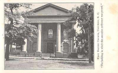 Columbia South Carolina First Baptist Church Street View Antique Postcard K59987