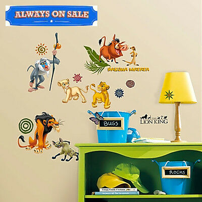 RoomMates The Lion King Peel Stick Wall Decals Kids Toddler Room Decor NEW