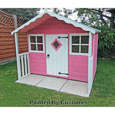 The Cubby Playhouse Outdoor Antique Style Wooden Quaint Cottage Kids House New