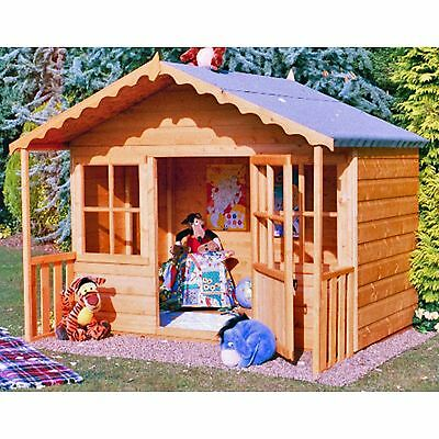 The Pixie Playhouse Outdoor Wooden Quaint Cottage Kids House with Single Door