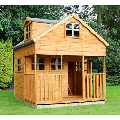 7 x 7 Double Storey Dormer Playhouse New Large Outdoor Children Cottage House