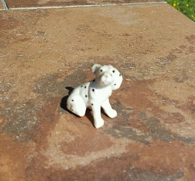 Vintage Japan Bone China Dalmation Dog Ear Blowing in Wind Minature Figurine