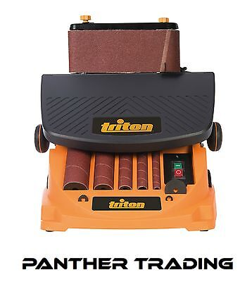 Triton 450W Oscillating Spindle & Belt Sander Supplied With Accessories - 977604