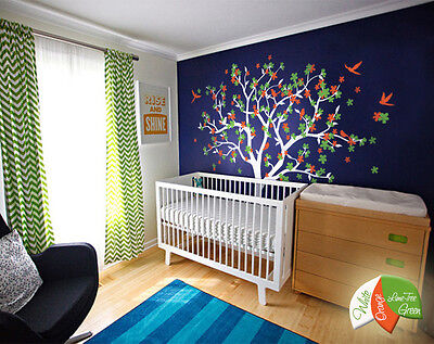 Huge tree wall decal with cherry blossoms wall mural blossom stickers KW013