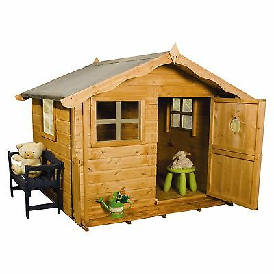 4'11''x4'11'' Tulip Playhouse Wooden Quaint Cottage Kids House with Single Door