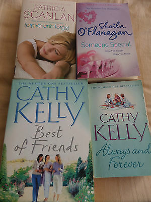 COLLECTION OF 4 x CHICK LIT PAPERBACK BOOKS - CATHY KELLY, SHEILA O'FLANAGAN