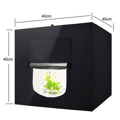 "JIAYUX0 60cm 24"" Portable Studio Box LED Light Tent Photo Video Lighting Cube"