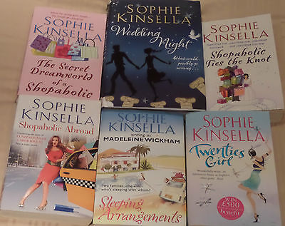 COLLECTION OF 6 x SOPHIE KINSELLA BOOKS - SHOPAHOLIC TWENTIES GIRL WEDDING NIGHT